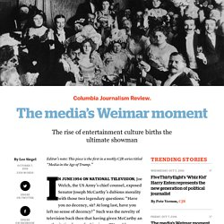 The media's Weimar moment