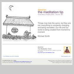 The Meditation Tip of the Day. Daily Wisdom - StumbleUpon