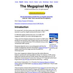 The Megapixel Myth