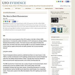 The Men in Black Phenomenon