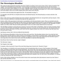 The Merovingian Bloodline