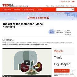 The art of the metaphor - Jane Hirshfield
