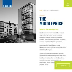 Middleprise - Overcome the In-Building Wireless Service Challenges