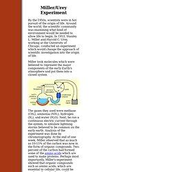The Miller/Urey Experiment