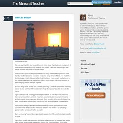 The Minecraft Teacher