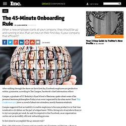 The 45-Minute Onboarding Rule