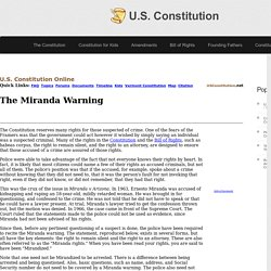 The Miranda Warning