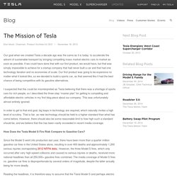 The Mission of Tesla