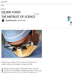 The Mistrust of Science
