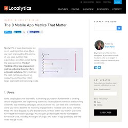 The 8 Mobile App Metrics That Matter