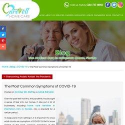 The Most Common Symptoms of COVID-19