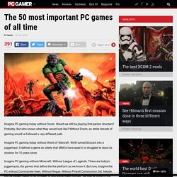 The most important PC games