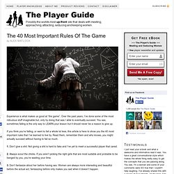 The 40 Most Important Rules Of The Game