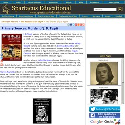 The Murder of J. D. Tippit
