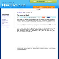 The Musical Staff - Free Quizzes