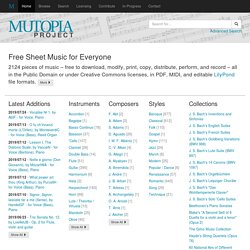 The Mutopia Project
