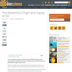 The Mysterious Origin and Supply of Oil