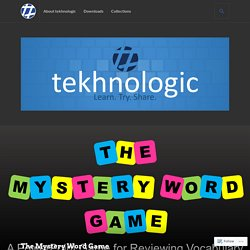 The Mystery Word Game – tekhnologic
