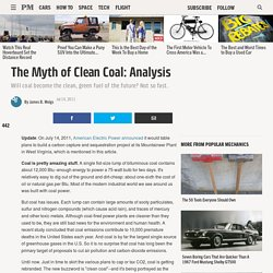 The Myth of Clean Coal: Analysis