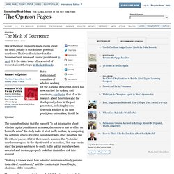 The Myth of Deterrence