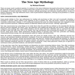 """""""The New Age Mythology"""" by Michael Parenti"""