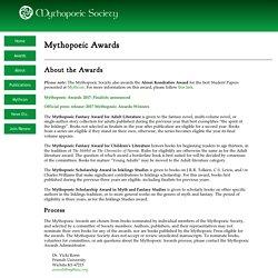 The Mythopoeic Society: Mythopoeic Awards for Fantasy Fiction