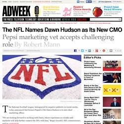The NFL Names Dawn Hudson as Its New CMO