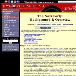 The Nazi Party (NSDAP)