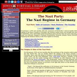 The Nazi Regime in Germany