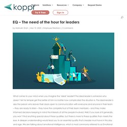 EQ - The need of the hour for leaders - Koppr