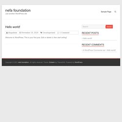 The NEFA Foundation