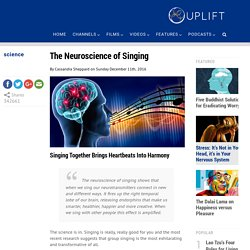 The Neuroscience of Singing