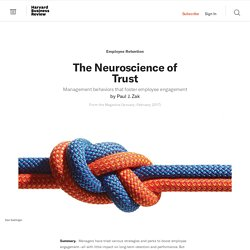 The Neuroscience of Trust