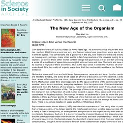 The New Age of the Organism