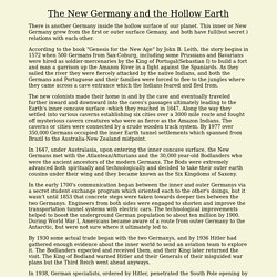 The New Germany and the Hollow Earth
