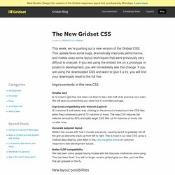 The New Gridset CSS