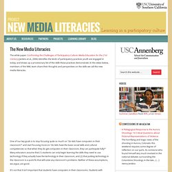 The New Media Literacies