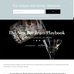 The New Bar Team Playbook
