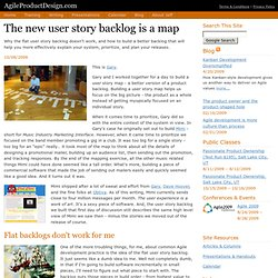 The new user story backlog is a map