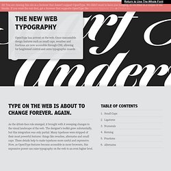 The New Web Typography - Vimperator