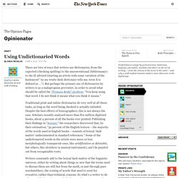 Using Words Not Found in the Dictionary - NYTimes.com - Nightly