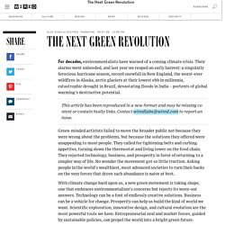 The Next Green Revolution