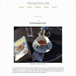 The Nife en l'Air: On Psychological Price