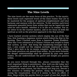 The Nine Levels