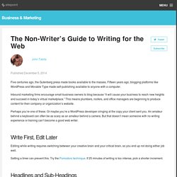 The Non-Writer's Guide to Writing for the Web