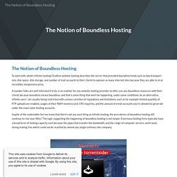 The Notion of Boundless Hosting