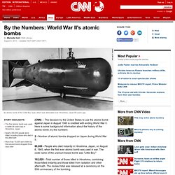 By the Numbers: World War II's atomic bombs
