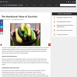 The Nutritional Value of Zucchini
