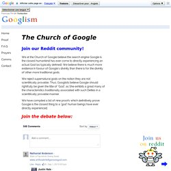 » The Church of Google