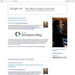 The official Google Code blog